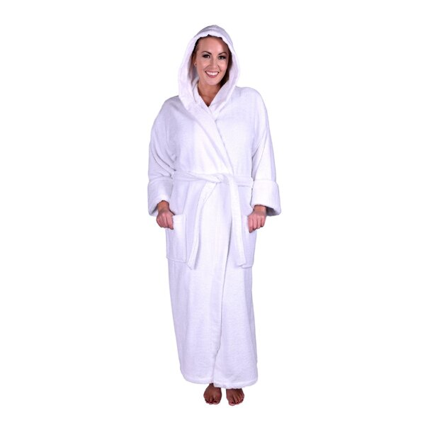Lowrey Natural Soft 100% Cotton Bathrobe by Latitude Run